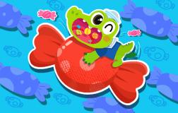 爱吃糖果的小鳄鱼