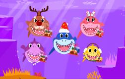鲨鱼一家过圣诞