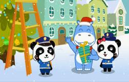警察圣诞夜巡逻