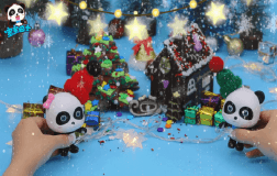 圣诞树和巧克力屋