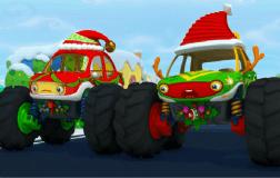 怪兽车吃糖果