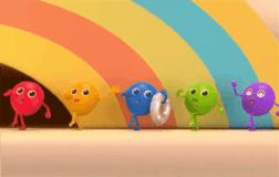 五颗彩虹糖