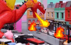 喷火龙入侵城市